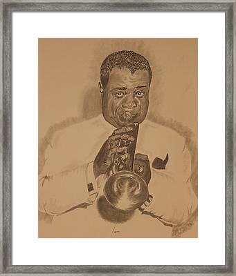 Satchmo Framed Print by Michael McGrath