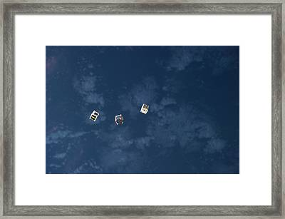 Satellites From The Iss Framed Print by Nasa
