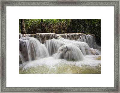 Satin Falls Framed Print by Kim Andelkovic