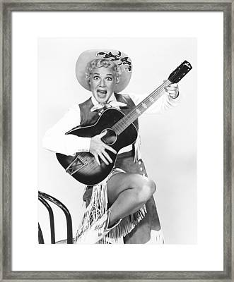 Satins And Spurs, Betty Hutton, Aired Framed Print by Everett