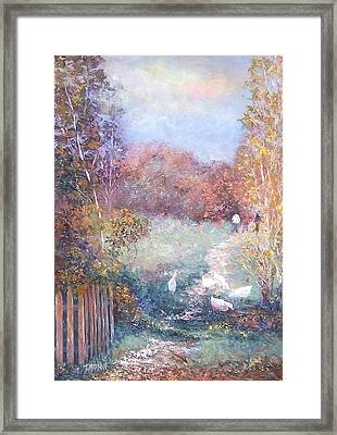 Saturday Afternoon Adventure Framed Print by Jan Matson