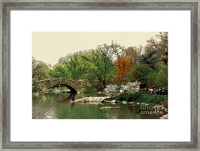 Saturday In Central Park Framed Print by Linda  Parker