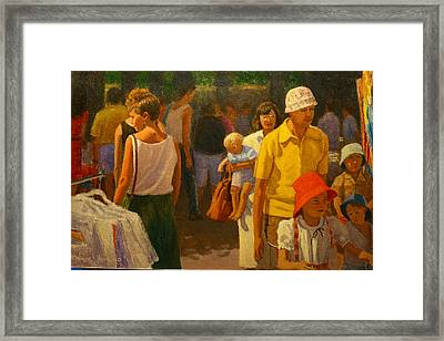 Saturday Market Framed Print by Terry Perham