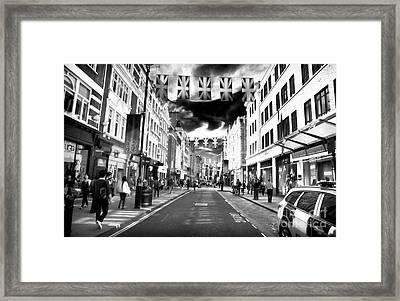 Saturday Stroll Framed Print by John Rizzuto