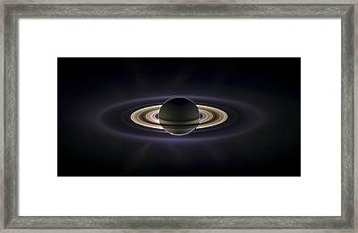 Saturn Framed Print by Adam Romanowicz
