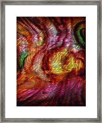 Saturn's Winds 2 Of 3 Framed Print by Luis  Navarro
