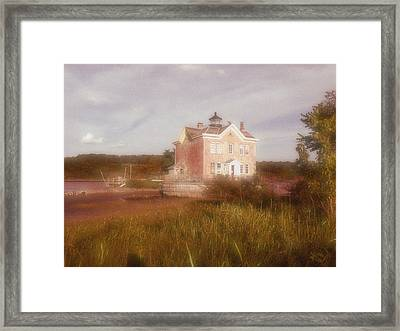 Saugerties Lighthouse Framed Print by Gina Bartosiewicz