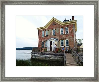 Saugerties Lighthouse Framed Print by Judy Genovese