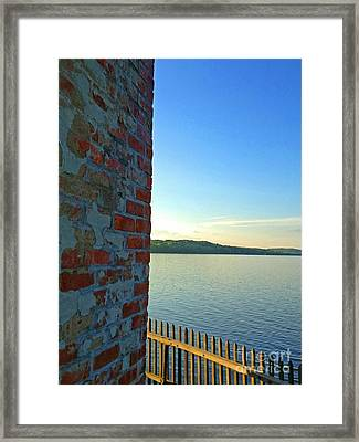 Saugerties Lighthouse On Hudson Framed Print by Beth Ferris Sale