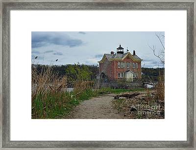 Saugerties Lighthouse On The Hudson River Framed Print by Tina Osterhoudt