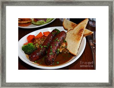 Sausage Dinner Plate 5d27674 Framed Print by Wingsdomain Art and Photography