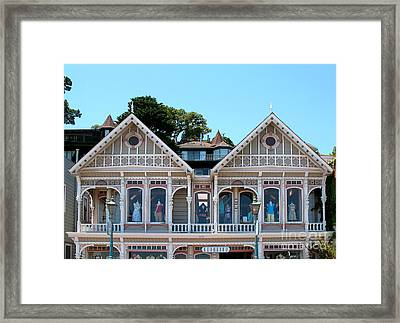 Sausalito Boutique Framed Print by Connie Fox