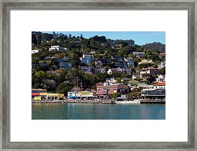Sausalito Hillside Framed Print by Bernard  Barcos