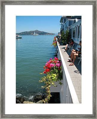 Sausalito Leisure Framed Print by Connie Fox