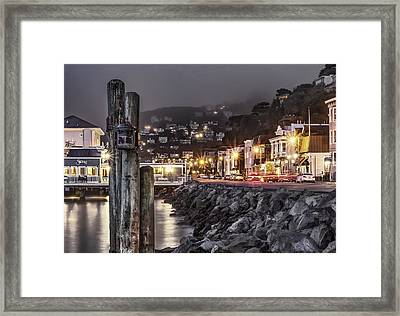 Sausalito Waterfront 2 Framed Print by Phil Clark