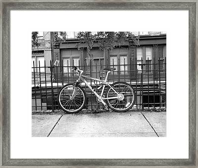 Savannah Bike  Framed Print by Janet Felts