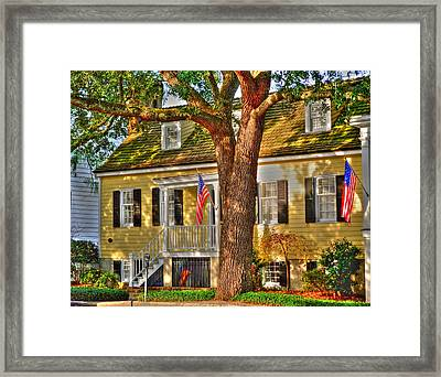 Savannah Historic District Framed Print by Linda Covino