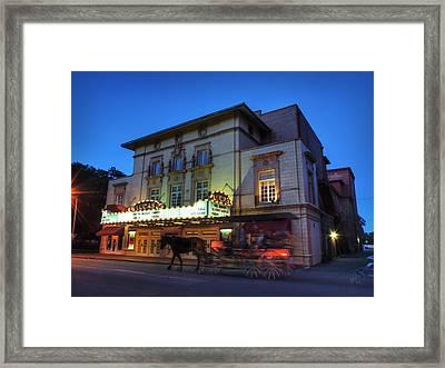Savannah - Lucas Theatre 001 Framed Print by Lance Vaughn