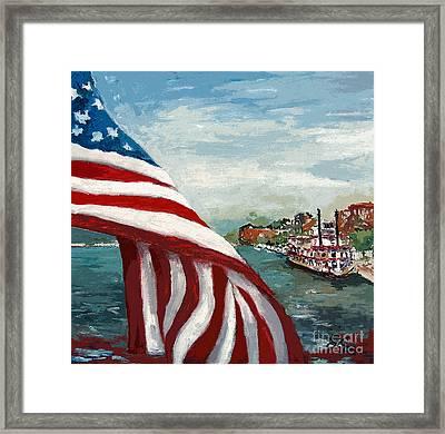 Savannah River Queen Framed Print by Ginette Callaway