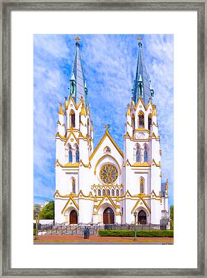 Savannah's Fairytale Cathedral Framed Print by Mark E Tisdale
