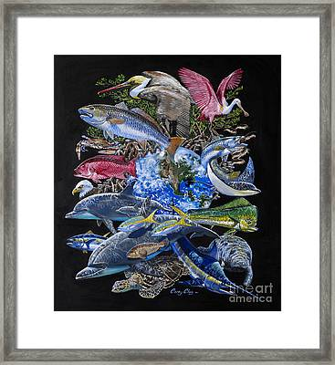 Save Our Seas In008 Framed Print by Carey Chen