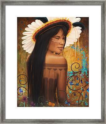 Save Xingu Framed Print by Sharon Irla