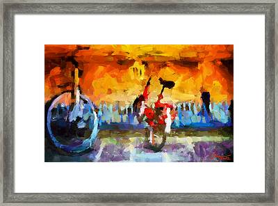 Saving The Bikes For The Summer Tnm Framed Print by Vincent DiNovici