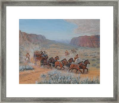 Saving The Nigh Leader Framed Print by Elaine Jones