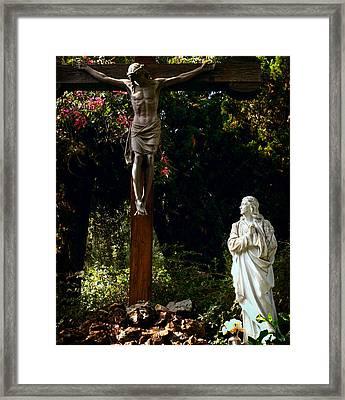 Savior Framed Print by Camille Lopez