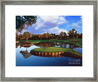 Sawgrass 17th Hole Framed Print by Tim Gilliland