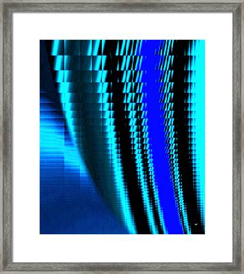 Sawtooth Abstract 3 Framed Print by Will Borden