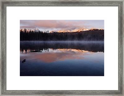 Sawtooth Mountain Sunrise Stanley Idaho Framed Print by Vishwanath Bhat