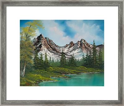 Sawtooth Saddle Framed Print by C Steele
