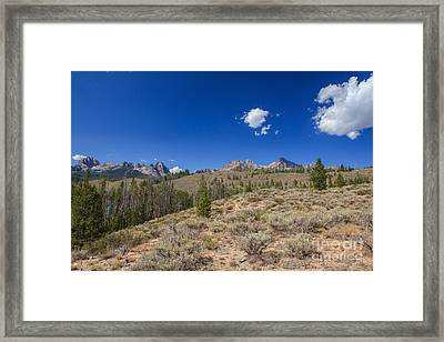 Sawtooth View Framed Print by Robert Bales