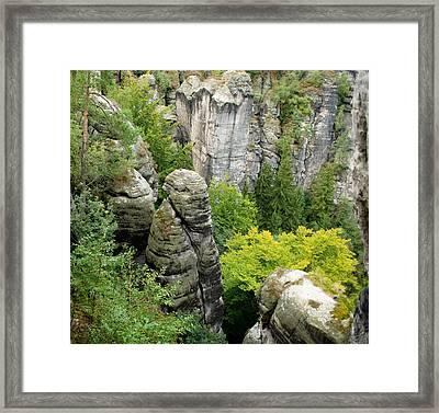 Saxon Switzerland Nature. Framed Print by Iryna Soltyska