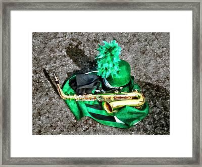 Saxophone And Band Uniform Framed Print by Susan Savad