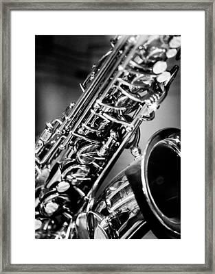 Saxophone Framed Print by Hakon Soreide