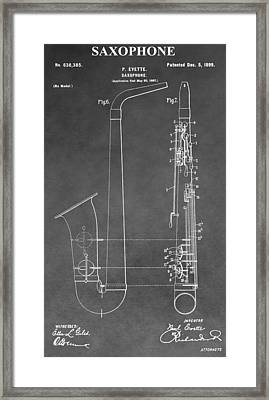 Saxophone Patent Framed Print by Dan Sproul