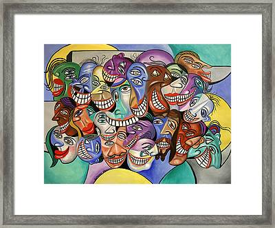 Say Cheese Framed Print by Anthony Falbo