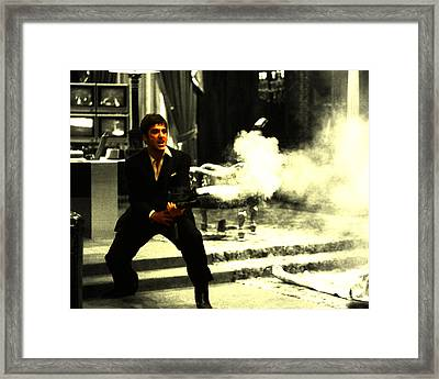 Say Hello To My Little Friend Framed Print by Brian Reaves