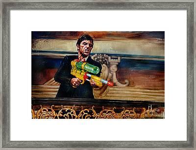 Say Hello Framed Print by Tom Dauria