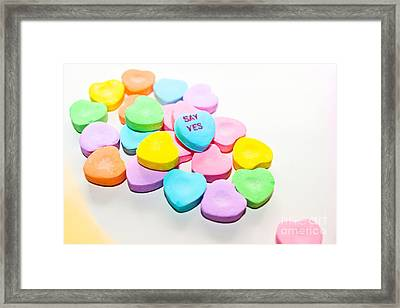 Say Yes Framed Print by Colleen Kammerer