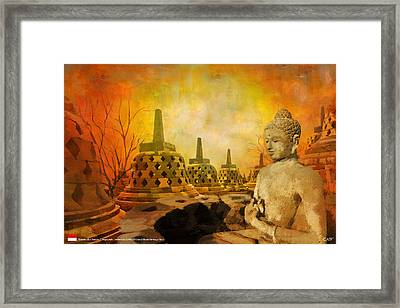Sborobudur Temple Compounds Framed Print by Catf