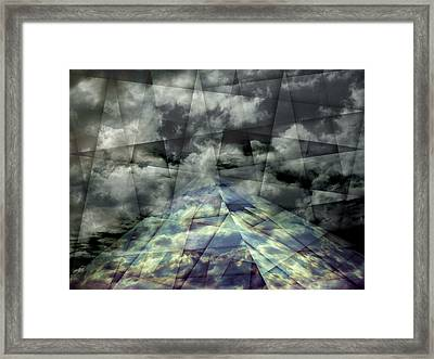 Scaffold Of Time Framed Print by Florin Birjoveanu