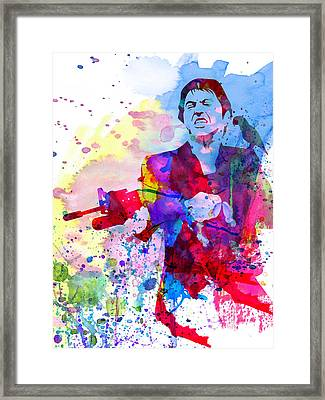 Scar Watercolor Framed Print by Naxart Studio