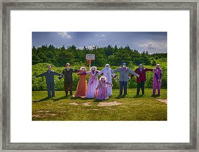 Scarecrow Wedding Framed Print by Garry Gay