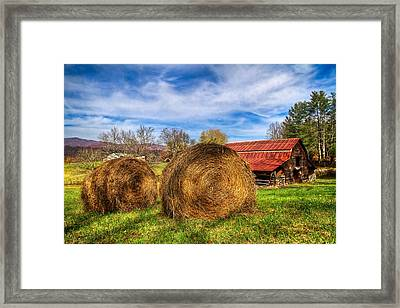 Scarecrow's Dream Framed Print by Debra and Dave Vanderlaan