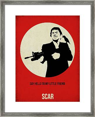 Scarface Poster Framed Print by Naxart Studio