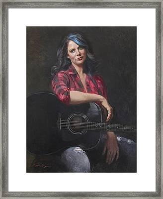 Scarlit Tones Framed Print by Anna Rose Bain