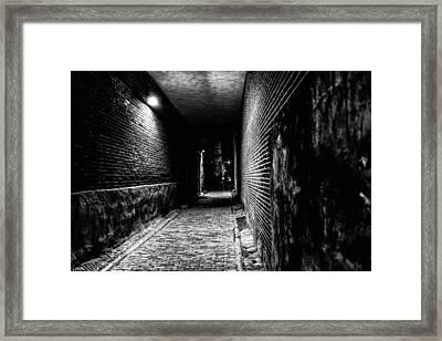 Scary Dark Alley Framed Print by Louis Dallara